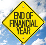 End of Financial Year Sign