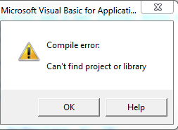 Visual Basic Error message