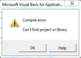 Compile error message